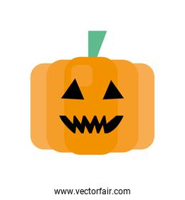pumpkin fruit face isolated icon