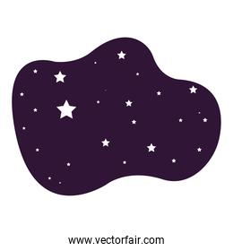 night starry scene isolated icon