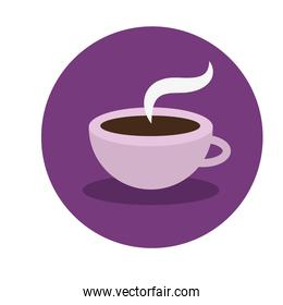 hot coffee cup drink icon