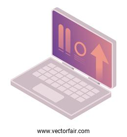 laptop computer device technology icon