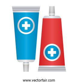 first AID ointment icon on white background