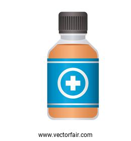 first AID disinfectant icon on white background