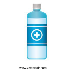 first AID disinfectant bottle icon on white background