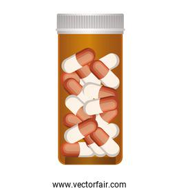 first AID painkillers icon on white background