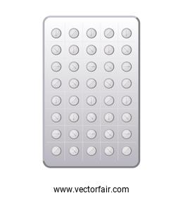 first AID pill chart icon on white background