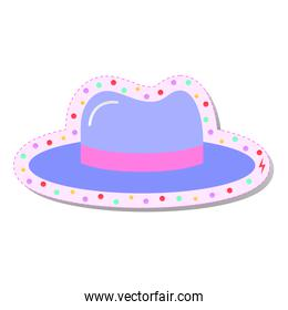 hat with colored circles stickers