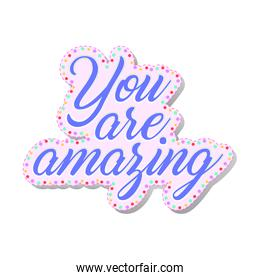 you are amazing lettering feminist stickers