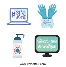 new normal, after coronavirus covid 19 prevention measures include stay home, sanitize hands