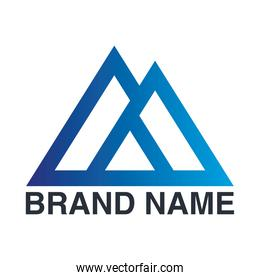brand name triangles crossed emblem