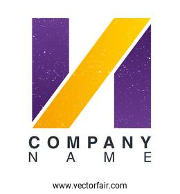 company name emblem with letter n