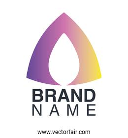 brand name emblem with triangle