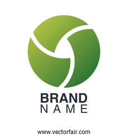 brand name emblem with green circle