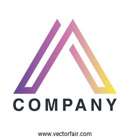 company emblem with triangle figure