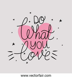 do what you love lettering with colors