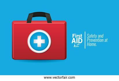 first AID icon on blue background