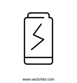 battery icon image, line style