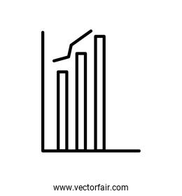 graphic bar chart icon, line style
