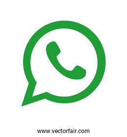 whats app instant messaging logo icon, flat style