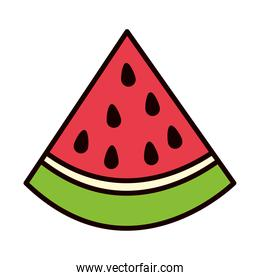 watermelon piece icon, line and fill style