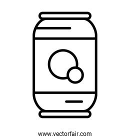 soda can icon, line style