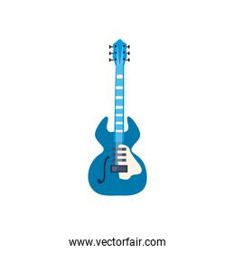 guitar electric instrument with ornament flat style icon vector design