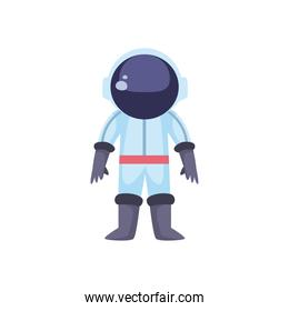 astronaut, person with spacesuit on white background