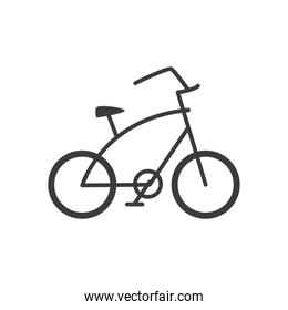 bicycle with big frame in white background