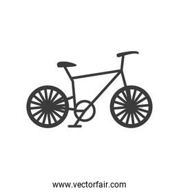 bicycle transport on white background