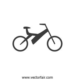 bicycle transport in white background