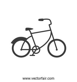 bicycle retro with tire guard in white background