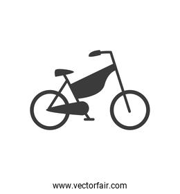 bicycle retro with chain guard on white background