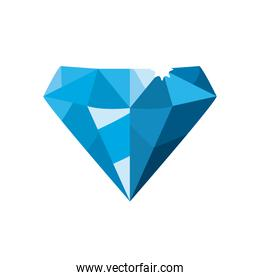 luxury diamond blue on white background