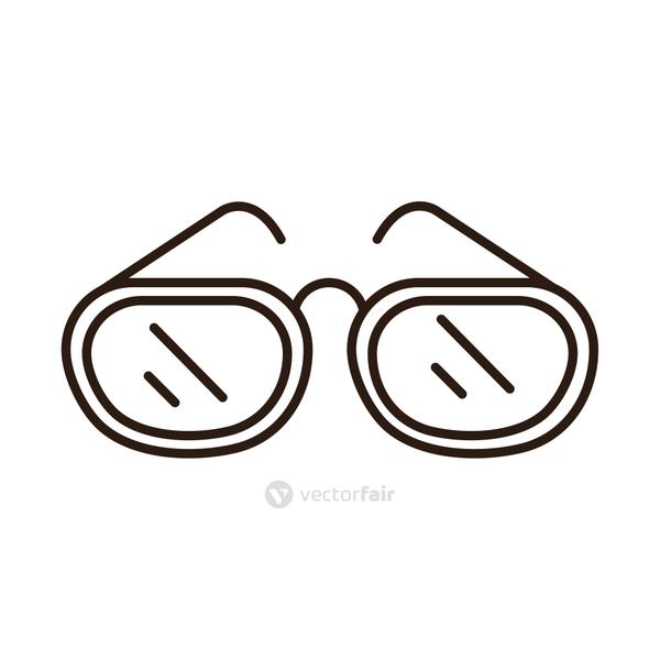 glasses frame optical accessory line icon