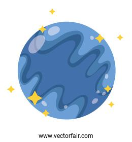 planet mercury space galaxy astronomy in cartoon style
