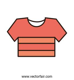 striped shirt sport clothes line and fill icon