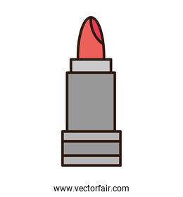 lipstick makeup cosmetic accessory line and fill icon