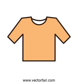 yellow shirt fashion clothes line and fill icon