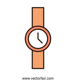 wrist watch accessory trendy line and fill icon