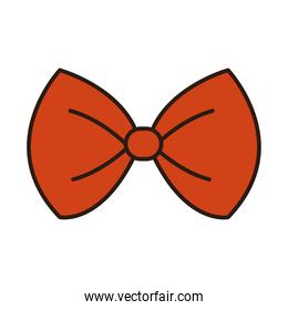 bow tie accessory classic male clothes line and fill icon