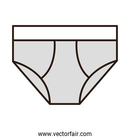 underpants male clothes line and fill icon