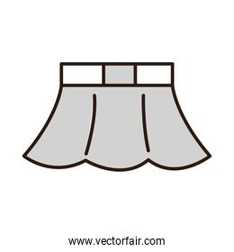 skirt female clothes line and fill icon white background