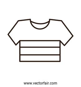 striped shirt sport clothes line icon