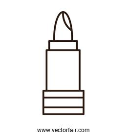 lipstick makeup cosmetic accessory line icon