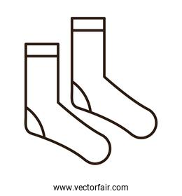 socks accessory sport and casual clothes line icon