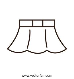 skirt female clothes line icon white background