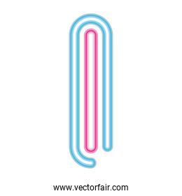number 1 neon font pink and blue on white background