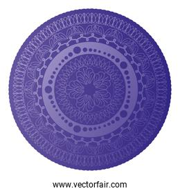 mandala of color ligth purple with a white background