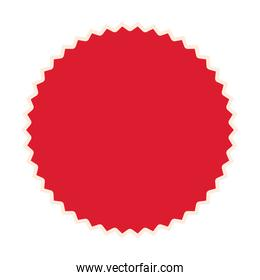 seal stamp of red color on white background
