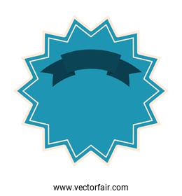 seal stamp of light blue color with a ribbon