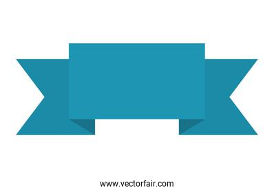 ribbon of blue color on white background